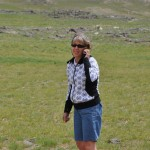 Ellen checks in with Mom on satellite phone - Gobi Desert, Mongolia