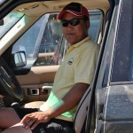 Our Mongolian lead car driver - likes the Range Rovers