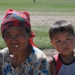 Grandmother and grandson, Kharkorin, Mongolia