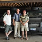 Gordy, Terry and Russ picking up Range Rovers in Mongolia