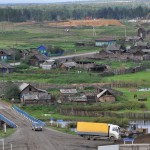 Village on Trans-Siberian Highway
