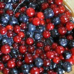 Berries with honey from roadside vendor - Siberia