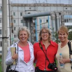 Laverne, Ellen and Gillian (note steam pipes and Soviet era apartments)- Tulun, Russia