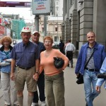 Looking for ATM with our guide John - Moscow