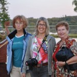 The ladies pose lakeside - Latvia