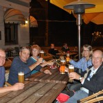 Dinner at outdoor restaurant in Old Town square - Riga, Ltvia