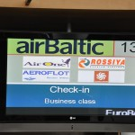 Air Baltic check-in - Riga, Latvia