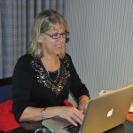 Ellen updating blog - Amsterdam