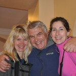Ray greets our Baltic guide (Jurate) and our daughter Kari Walker