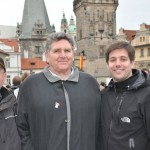 The boys enjoying Charles Bridge - Praha, CZ