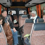 On the bus for city tour - Praha, CZ