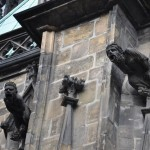 Gargoyles as downspouts for rain water on Cathedral