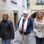 The ladies enjoying the walking tour of Praha, CZ