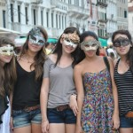 Girls having fun - Venice, Italy