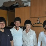 John, Russ, Gillian and Ellen prepare to ride - Lippizaner stud farm - Lipica, Slovenia
