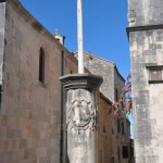 Column of shame - Korcula, Croatia