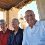 Norm, Bruce and Russ atop monument to Marco Polo - Korcula, Croatia