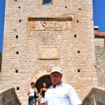 Main entrance to old fortress - Korcula, Croatia