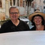 John and Lulu enjoy water taxi ride - Venice, Italy