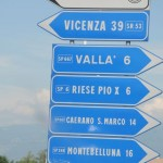 Follow signs to Riese Pio X, Italy