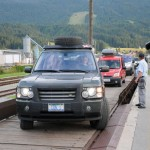 Ellen drives off train car - Slovenia