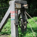 Hand crank to drive cable car - Sava River, Slovania