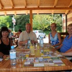Lunch alongside Sava River, Slovenia