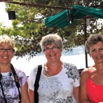 Ladies happy to be in Korcula, Croatia