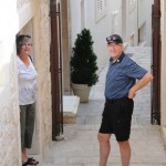 Norm and Anne ready to explore Korcula, Croatia