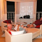 Russ and Norm relax before bed time - Korcula, Croatia