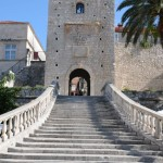 Main entrance to fortress - Korcula, Croatia