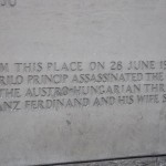 Place where Ferdinand assassinated in 1914 to start WW1 - Sarajevo, Bosnia