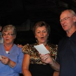 Norm, Anne, Anne-Marie and Bruce singing - Sarajevo, Bosnia