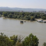 Remnants of Danube Bridge from 1999 Nato bombing - Serbia