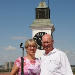 Ellen and Russ enjoy sunshine - Novi Sad, Serbia