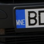 Monte Negro licence plate