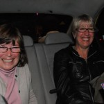 Hilary and Ellen enjoy cab ride back to hotel- Sofia, Bulgaria