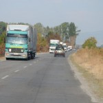 Traffic on national road - Bulgaria