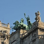 Beautiful sculptures on old building - Budapest, Hungary