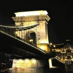 Danube bridge at night - Budapest, Hungary