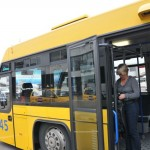 Bus from terminal to aircraft - Budapest, Hungary