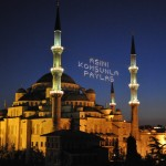 Blue Mosque at nite during Ramadan - Istanbul, Turkey