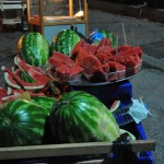 Watermelon in nite market - Istanbul, Turkey