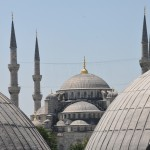 View of Blue Mosque from Hagia Sofia - Istanbul, Turkey