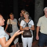 Touring ancient underground cistern - Istanbul, Turkey
