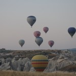 Hot air balloons aloft - Cappadocia, Turkey