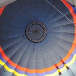 Inside of hot air balloon; ready to let out the air - Cappadocia, Turkey