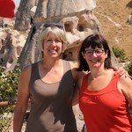 Ellen and Lulu still irrationally exuberant after shopping - Cappadocia, Turkey