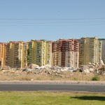 Numerous partly built apartment buildings at standstill - Turkey