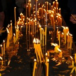 Candles;  Armenian Church - Echmiadzin, Armenia